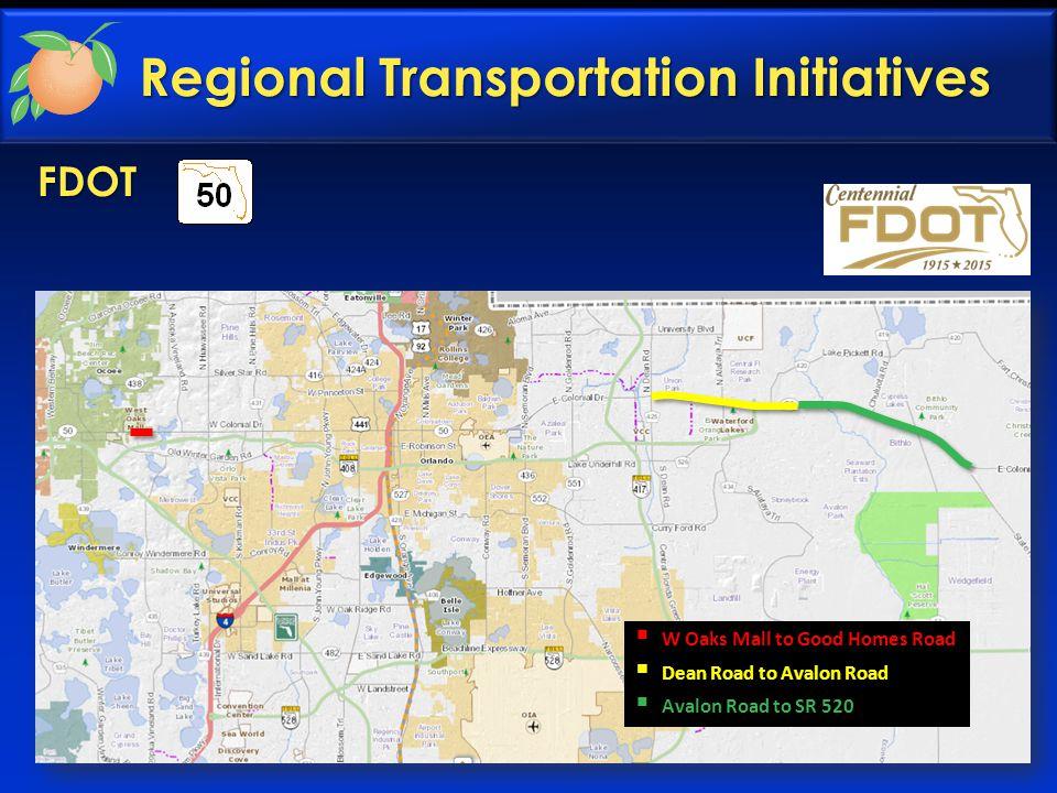CFX SR 408 Extension  Challenger Parkway to SR 520  PD&E Underway Regional Transportation Initiatives