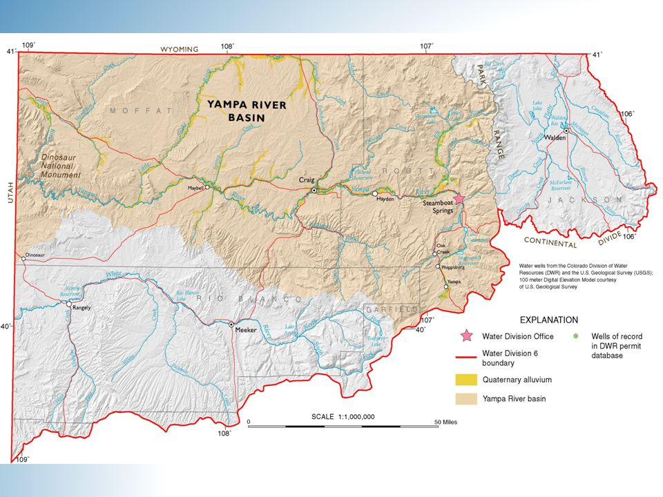 Colorado Water Plan Statement of values and policies to guide decision-making at the local and state level.