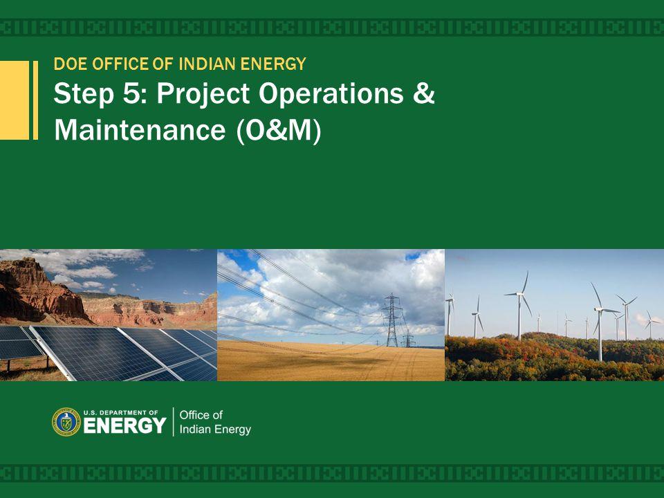 Project Development Process 1 Potential 3 Refinement 5 Operations & Maintenance 2 Options 4 Implementation 5 Operations & Maintenance 2