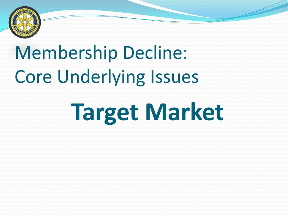 Club Structure Membership Decline: Core Underlying Issues