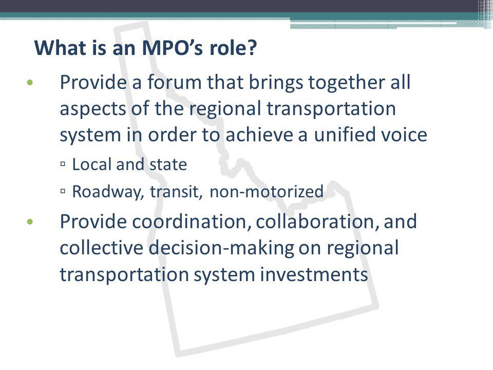What do MPOs do.