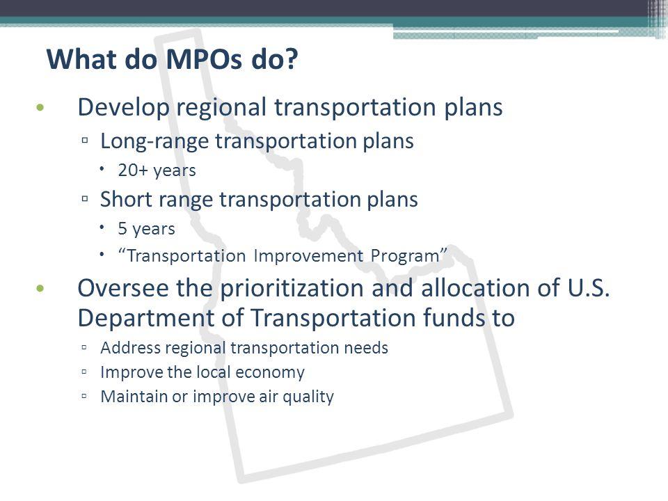 Where do MPOs exist.