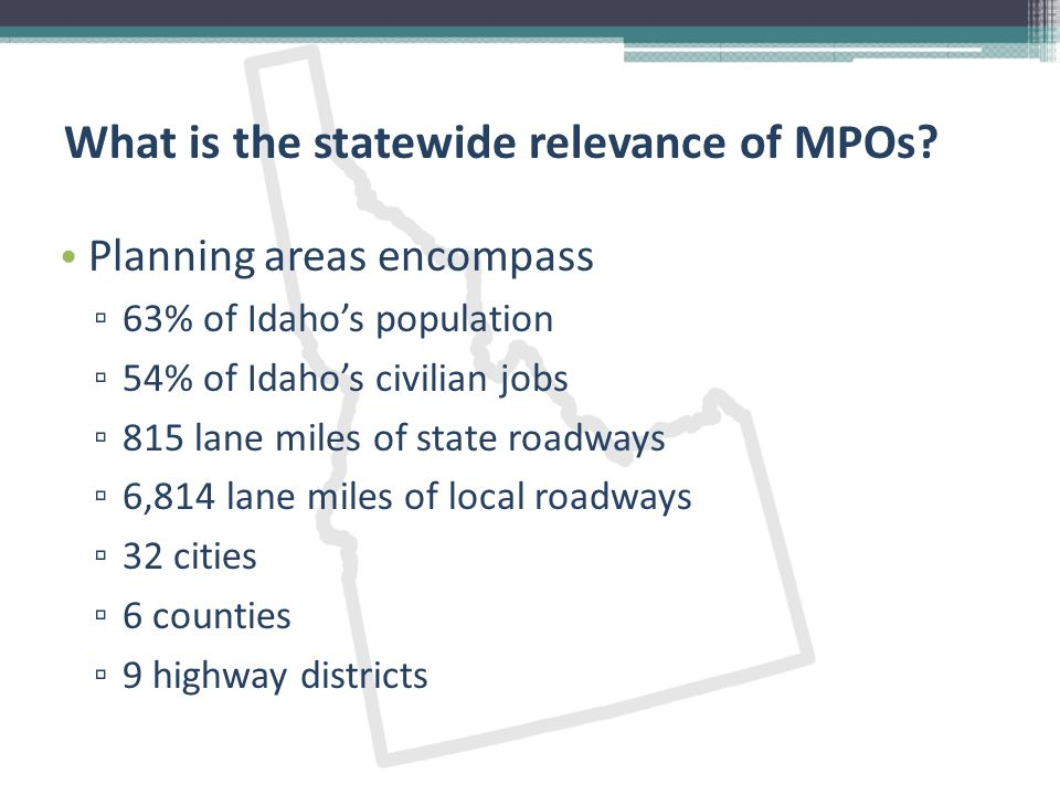 Who makes up an MPO.