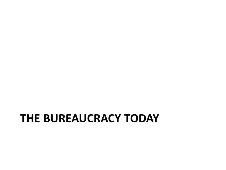 THE BUREAUCRACY TODAY