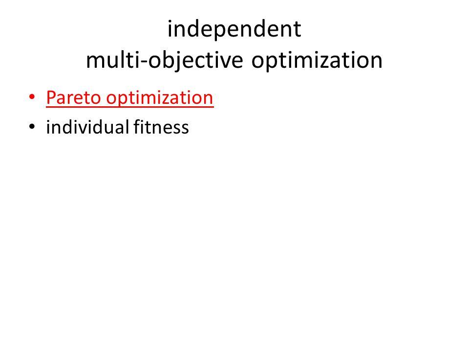 independent multi-objective optimization Pareto optimization individual fitness
