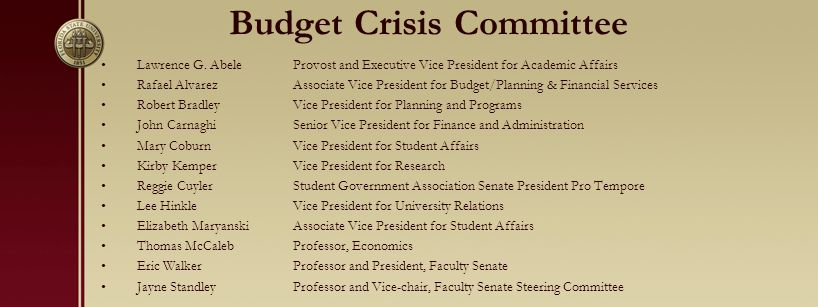 Budget Crisis Committee Lawrence G.