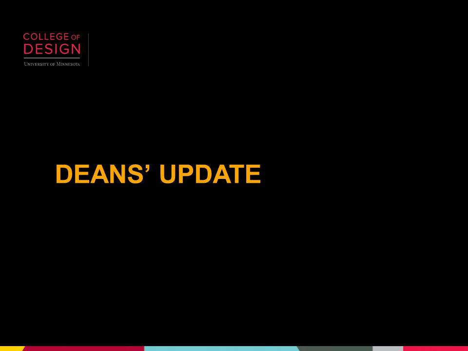DEANS' UPDATE