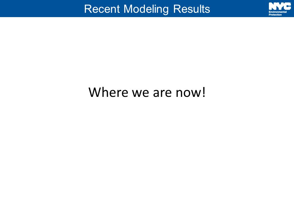 Recent Modeling Results Where we are now!