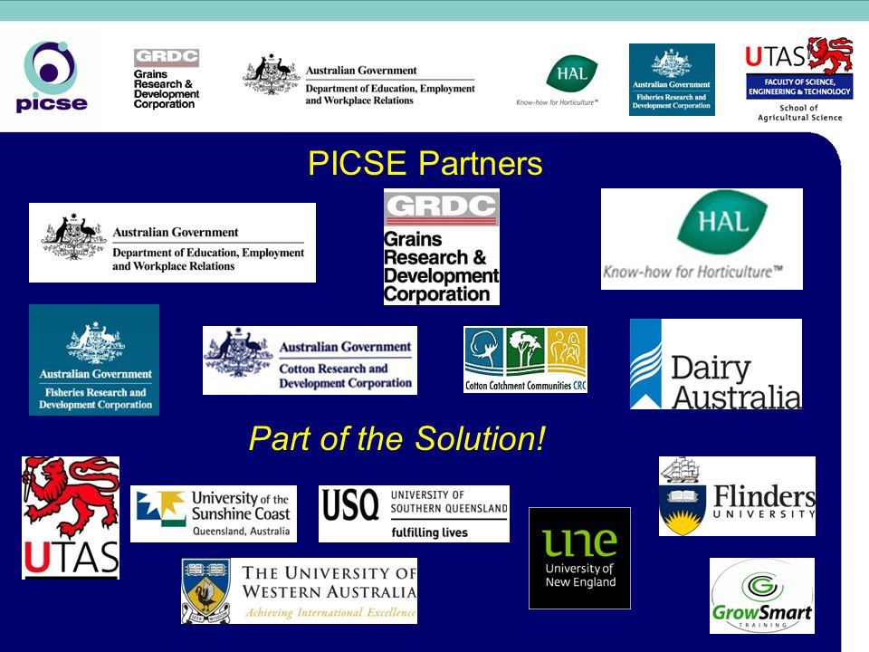 PICSE Partners Part of the Solution!