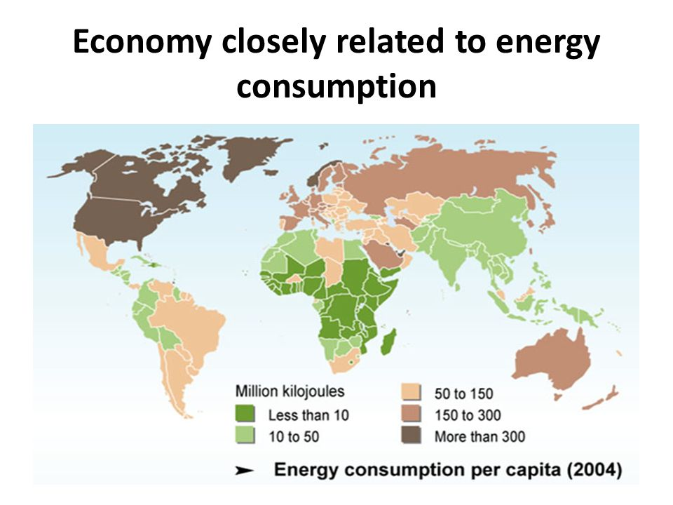 Economy closely related to energy consumption