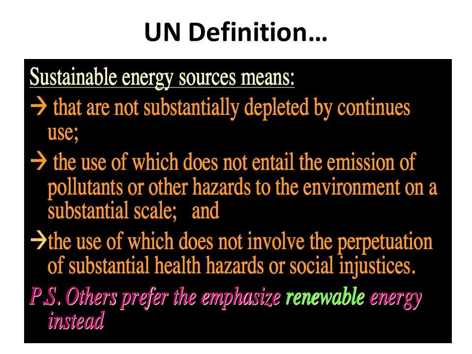 UN Definition…
