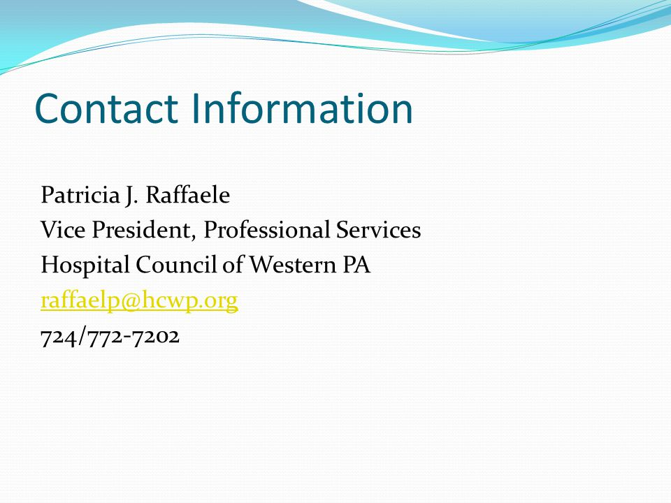 Contact Information Patricia J.