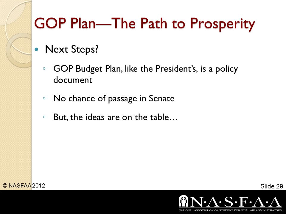GOP Plan—The Path to Prosperity Next Steps.