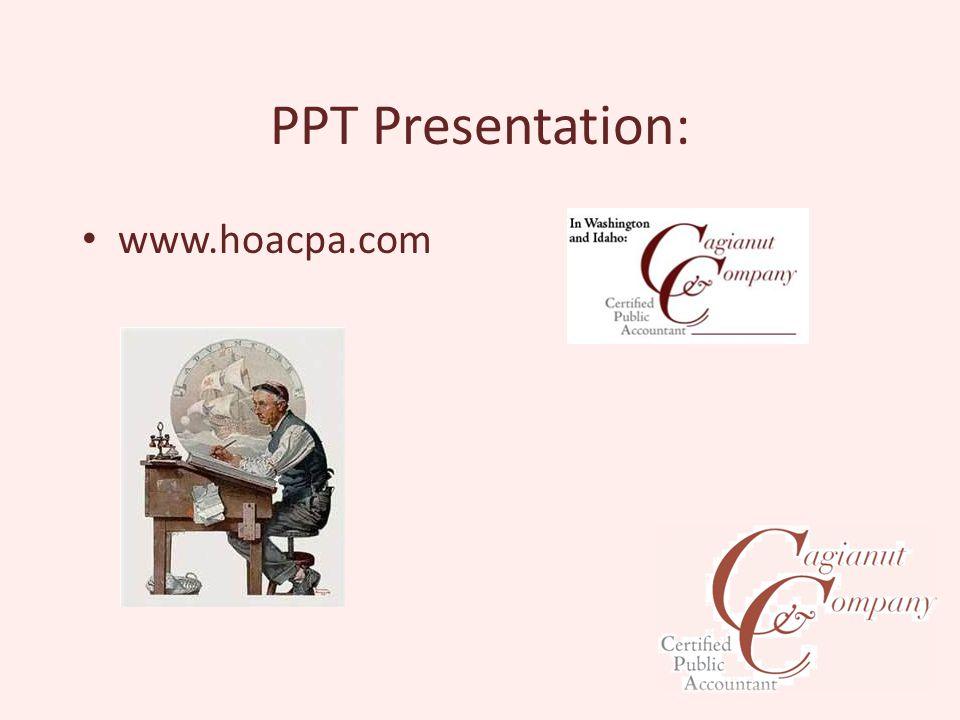PPT Presentation: www.hoacpa.com
