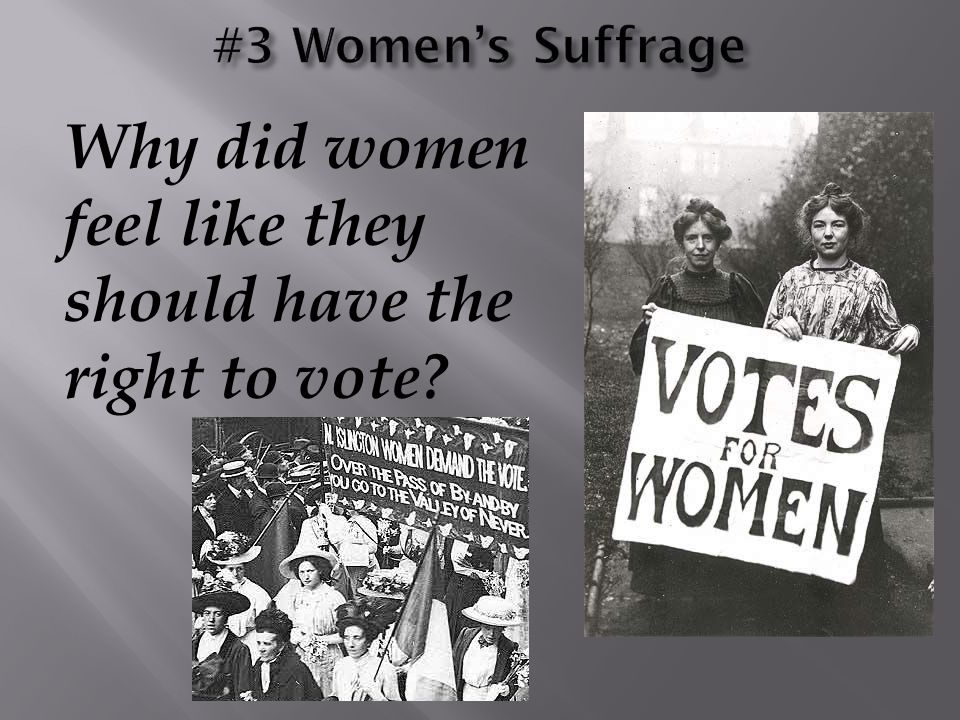 Why did women feel like they should have the right to vote?