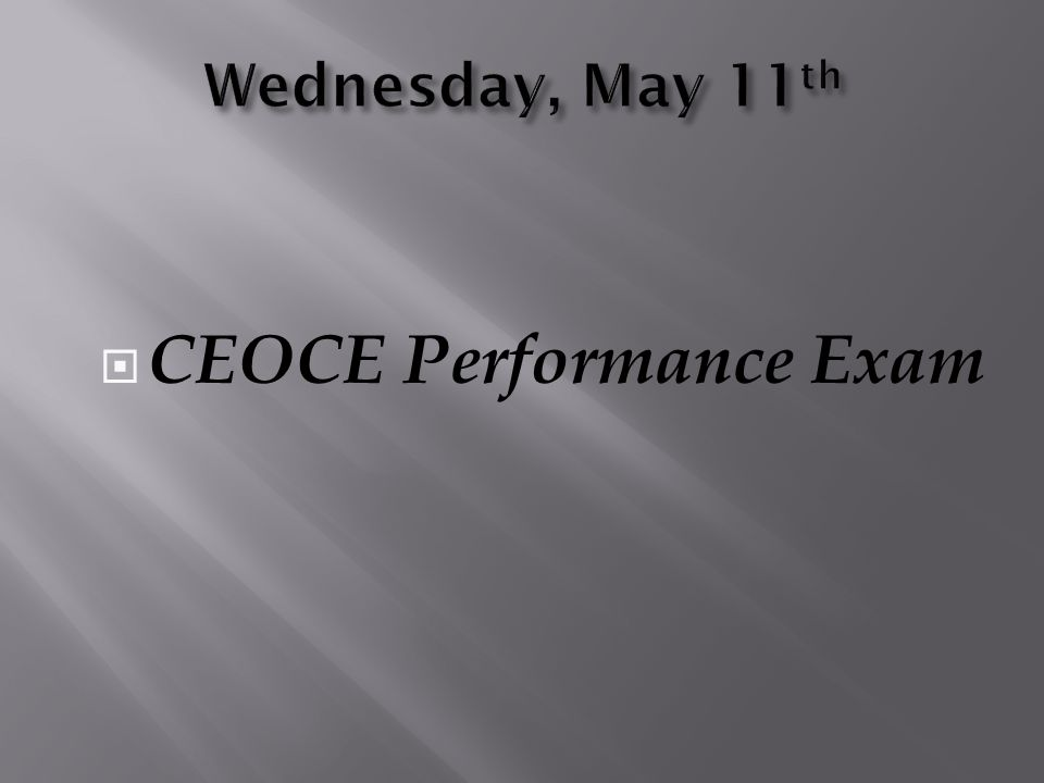 CEOCE Performance Exam