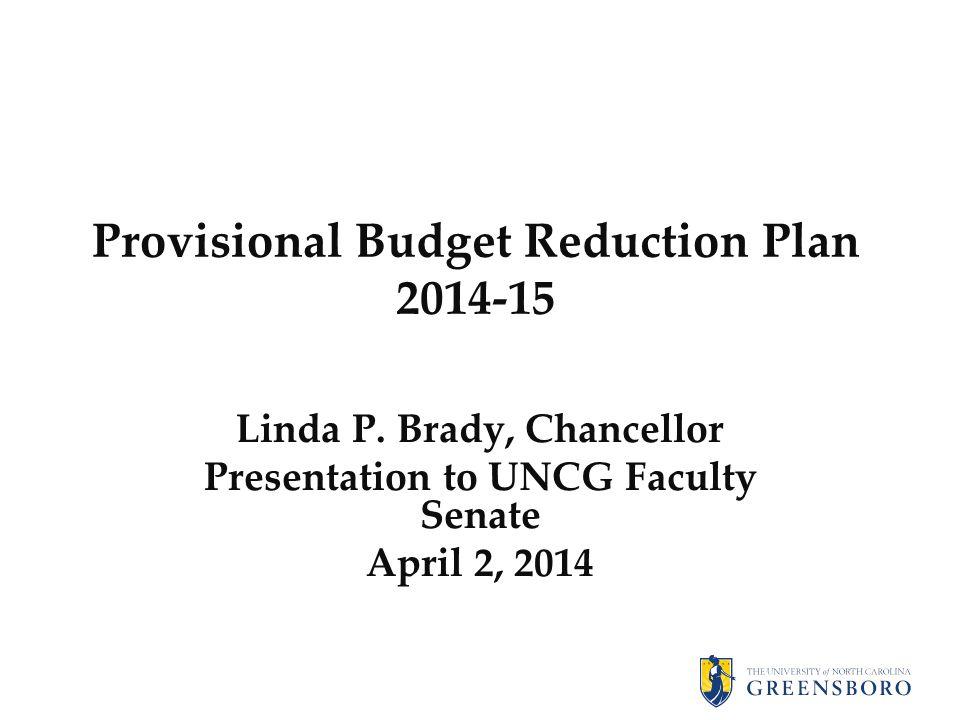 Provisional Budget Reduction Plan 2014-15 Linda P.