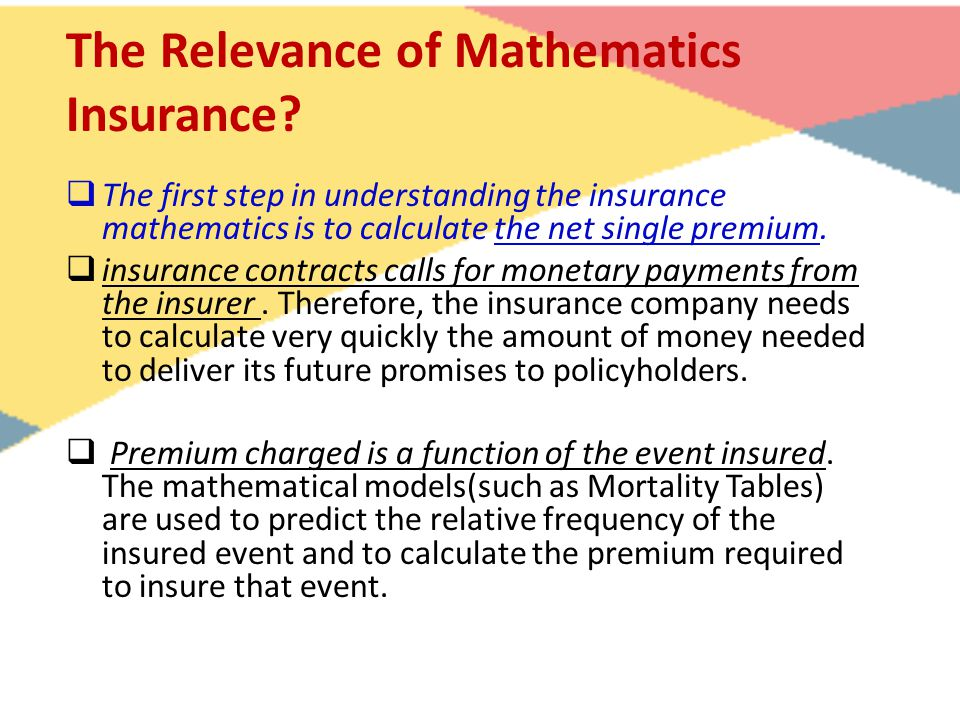 The Relevance of Mathematics Insurance.