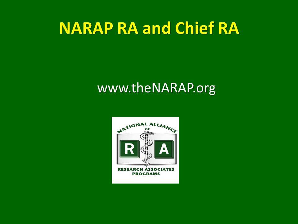 NARAP RA and Chief RA www.theNARAP.org
