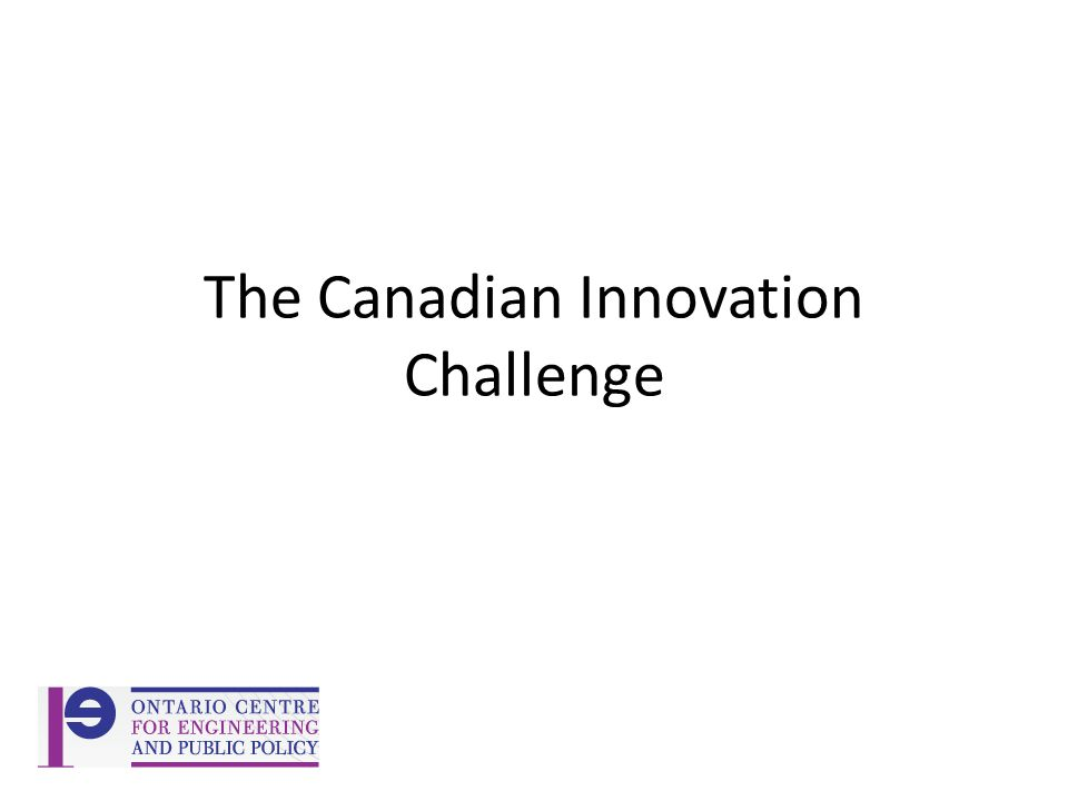 The Canadian Innovation Challenge