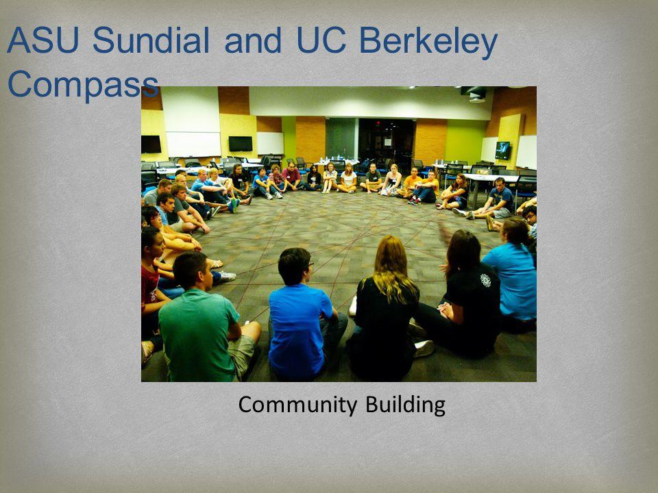 Community Building ASU Sundial and UC Berkeley Compass