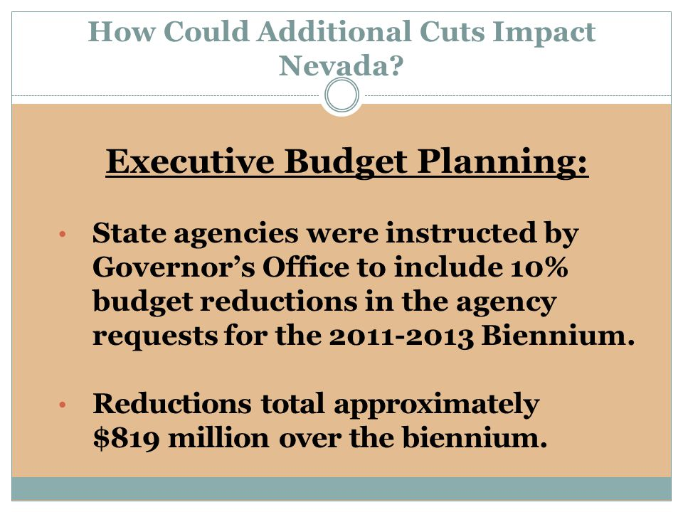 How Could Additional Cuts Impact Nevada.