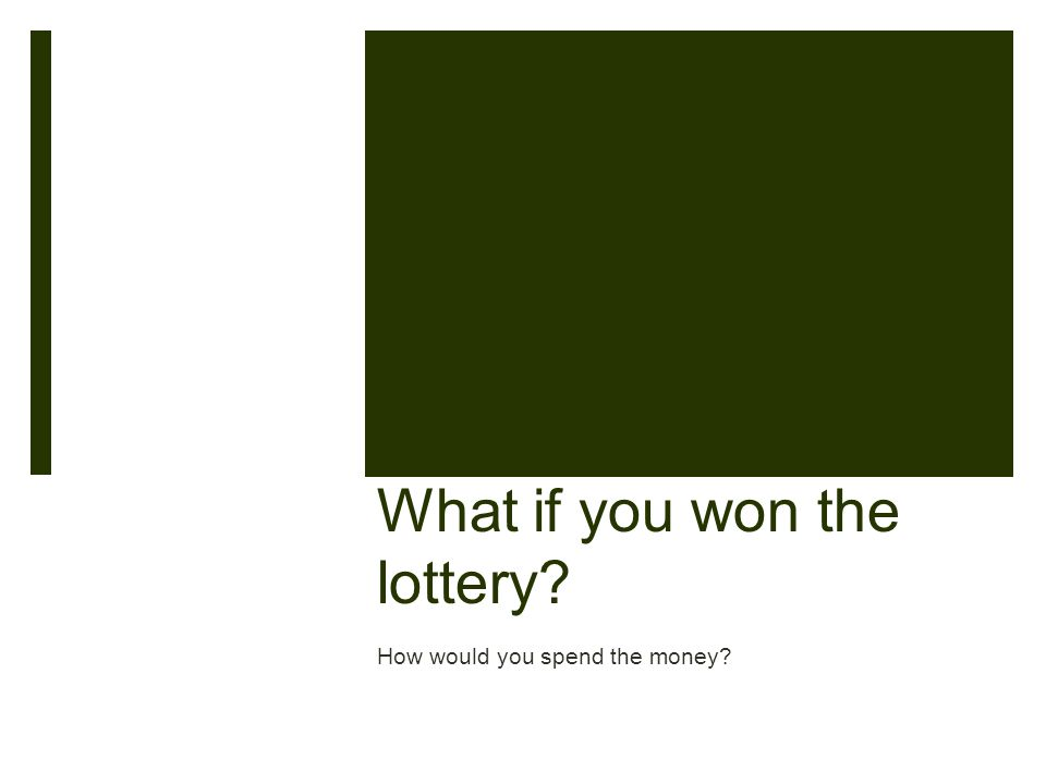 What if you won the lottery How would you spend the money