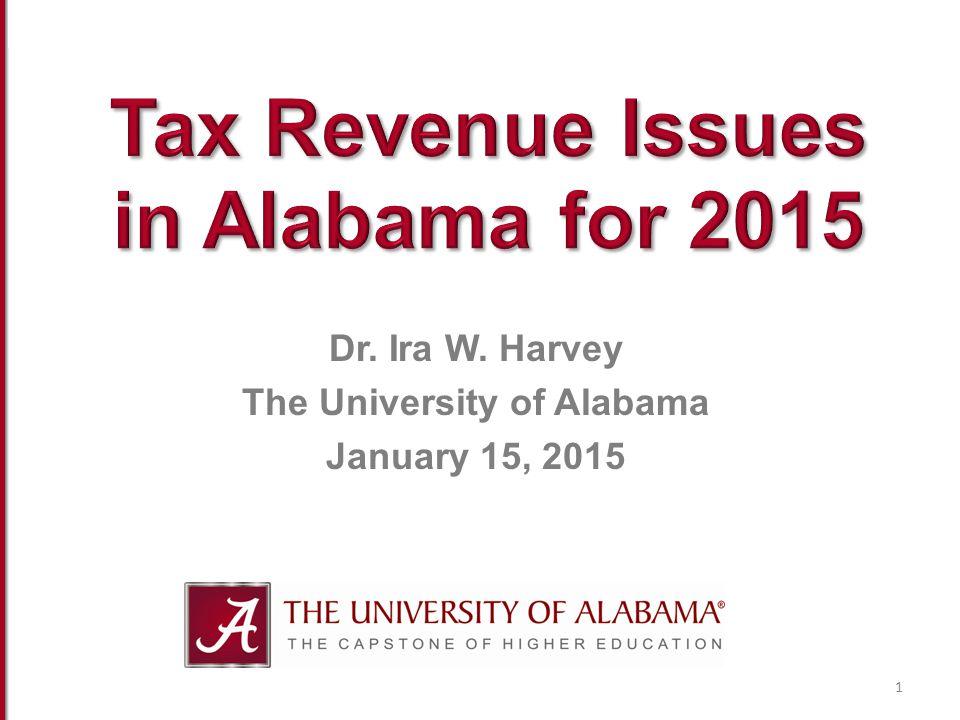 Dr. Ira W. Harvey The University of Alabama January 15, 2015 1