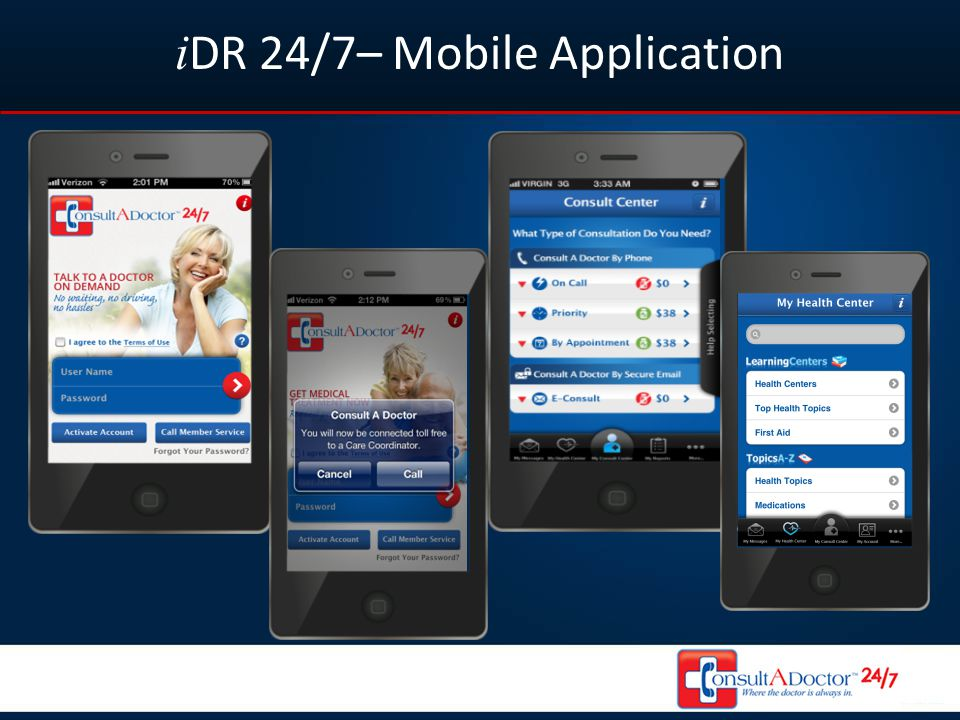 i DR 24/7– Mobile Application