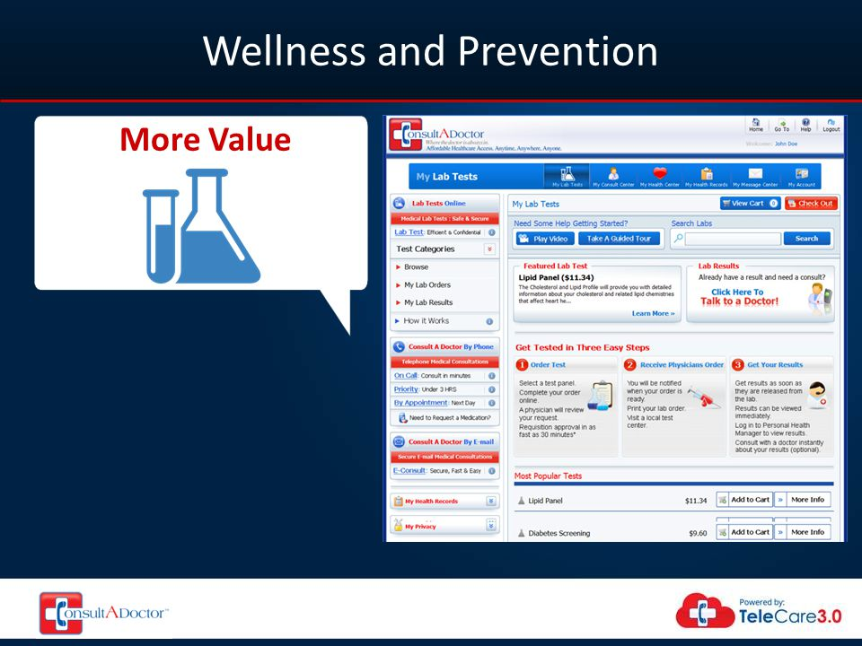 Wellness and Prevention More Value