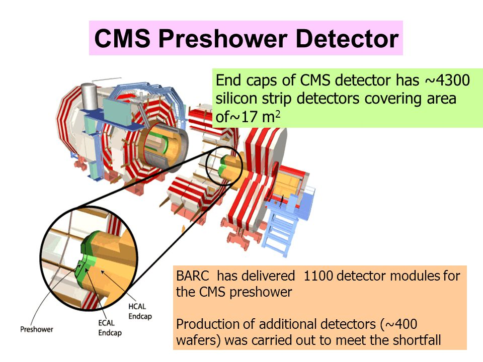 The Preshower Silicon Detector Preshower silicon strip detector is being used for  0 /  rejection in the ECAL, CMS Strips of 1.80 mm width with a pitch of 1.9 mm Area - 63mm x 63mm Detector specifications are very stringent as they are to be operated in a high radiation background of neutrons ( 2x10 14 /cm 2) & gamma ( 10Mrad) for a long period of ten years