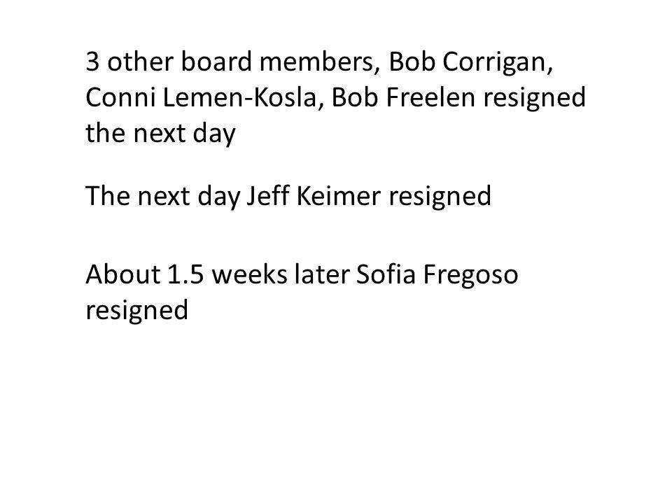 The 10 member board is down to 3 members.