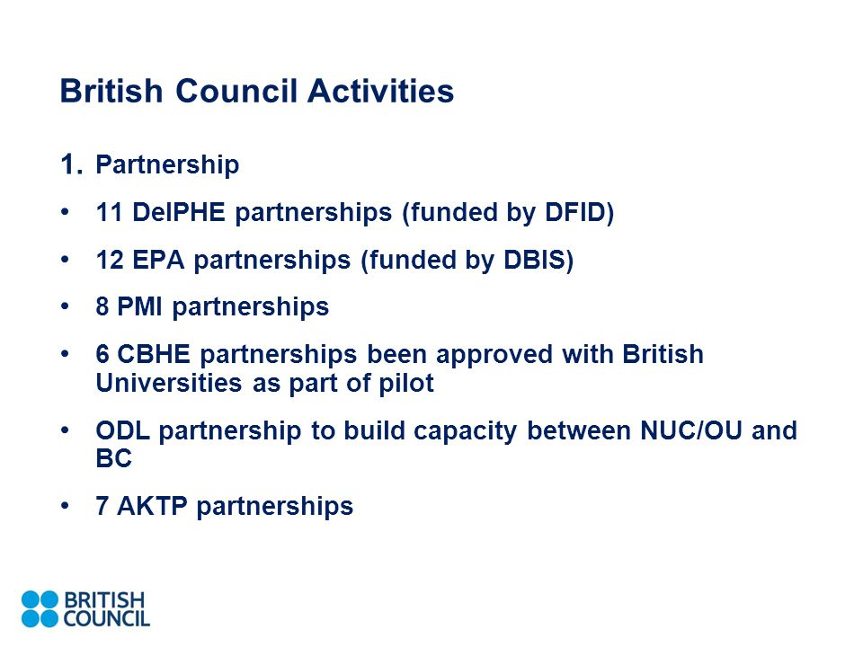 British Council Activities 1.