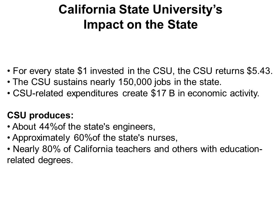10 2010-2011 Proposed California State Budget & Impact on CSU Restores $305 million in cuts to the CSU system and adds $60.6 million in funding for enrollment growth.
