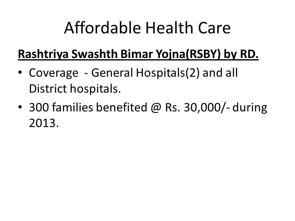 Affordable Health Care Rashtriya Swashth Bimar Yojna(RSBY) by RD.