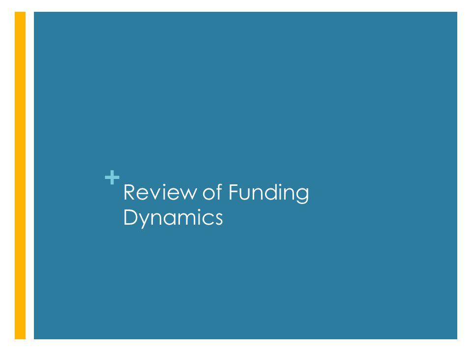 + Review of Funding Dynamics