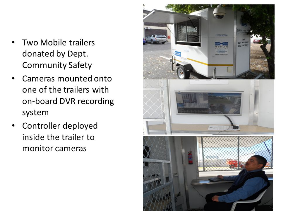 Two Mobile trailers donated by Dept.