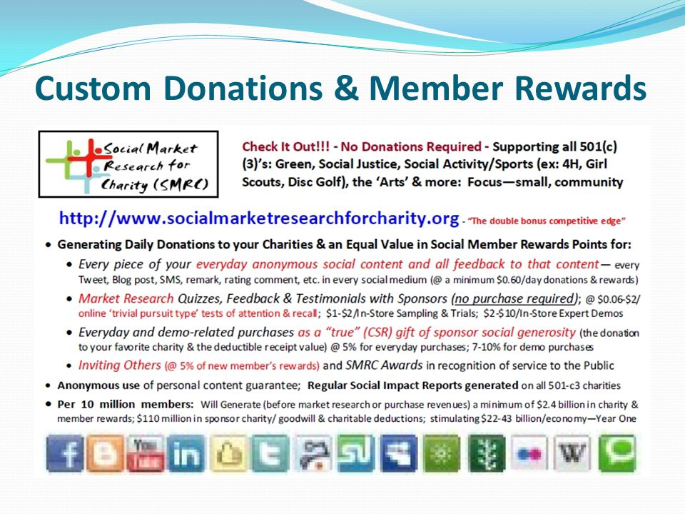 Custom Donations & Member Rewards