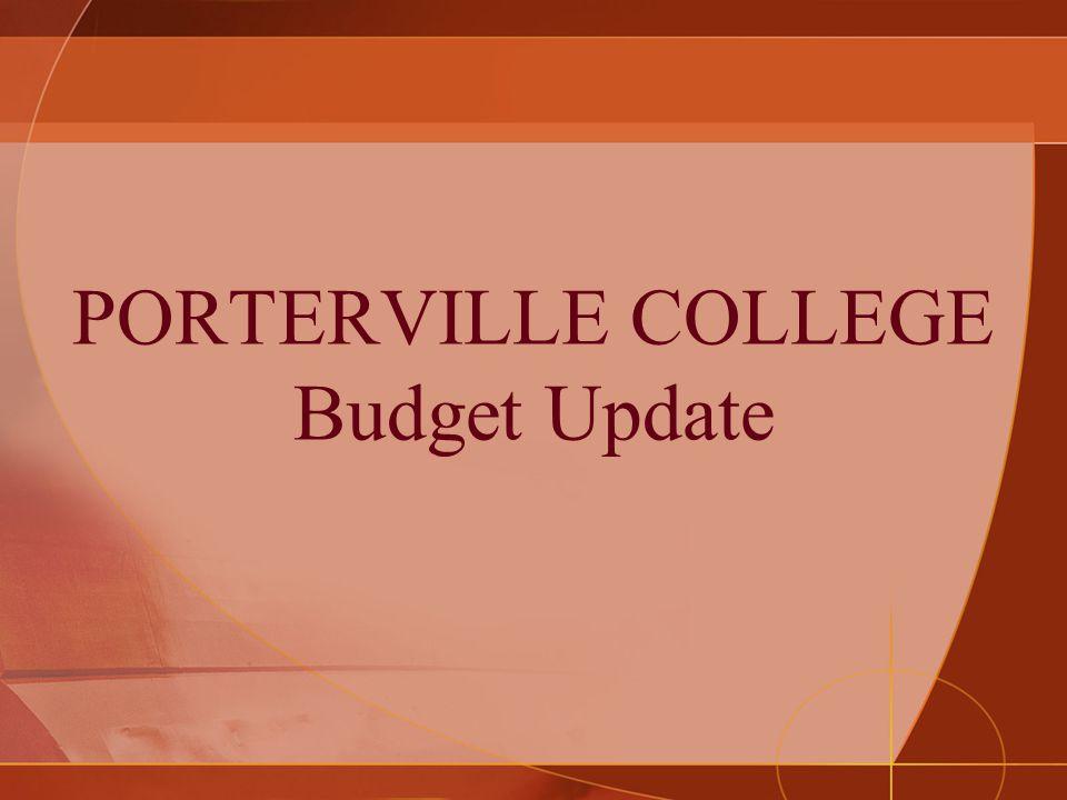 PORTERVILLE COLLEGE Budget Update