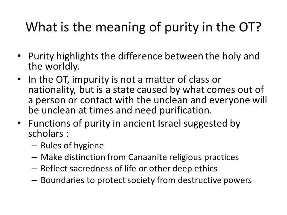 What did Jesus teach about Purity Laws.