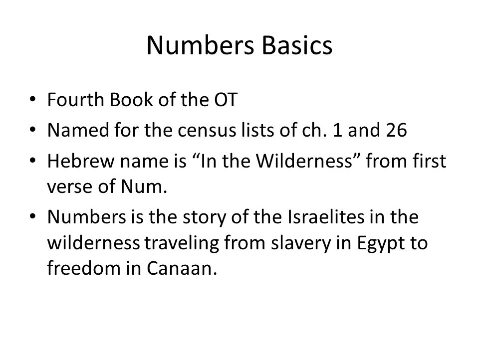 What do you know about Numbers?