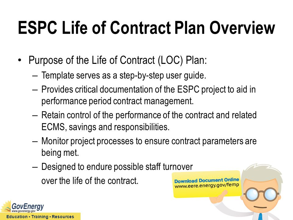 ESPC Life of Contract Plan: Site-Level Performance Period ...