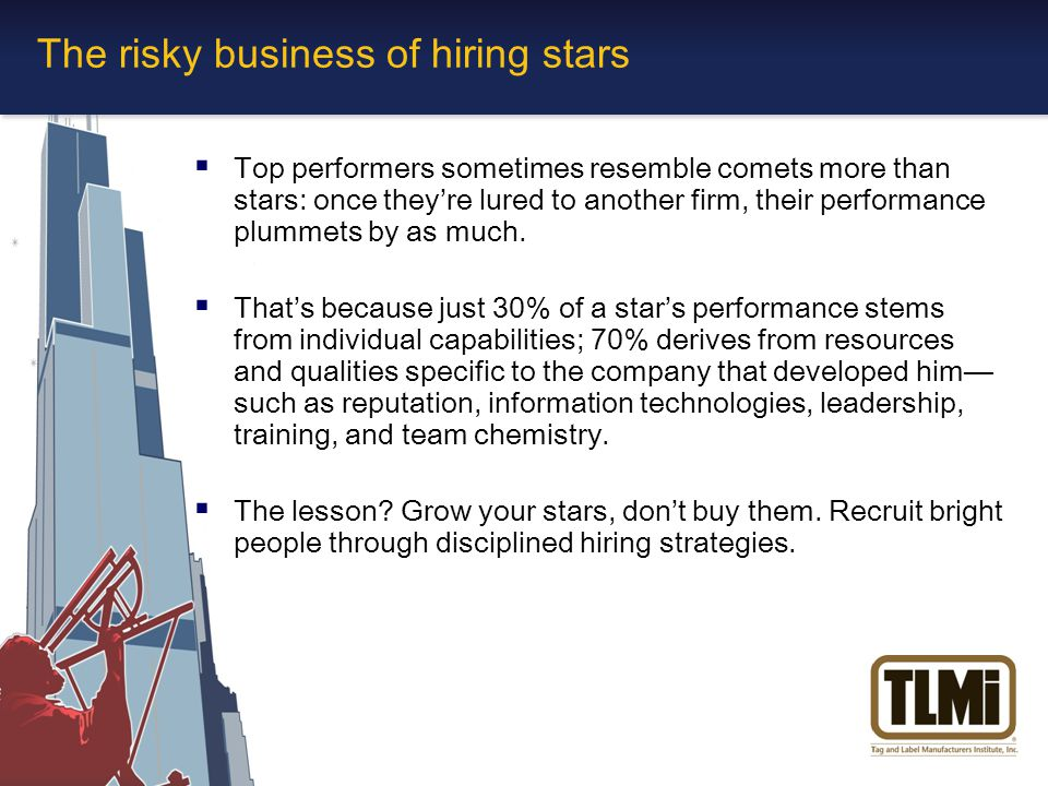 The risky business of hiring stars  Top performers sometimes resemble comets more than stars: once they're lured to another firm, their performance plummets by as much.