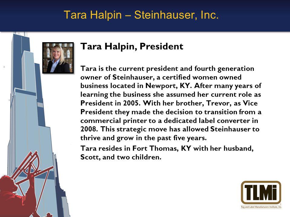 Tara Halpin – Steinhauser, Inc.