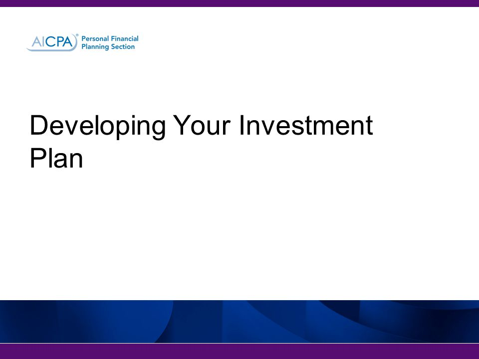 Developing Your Investment Plan