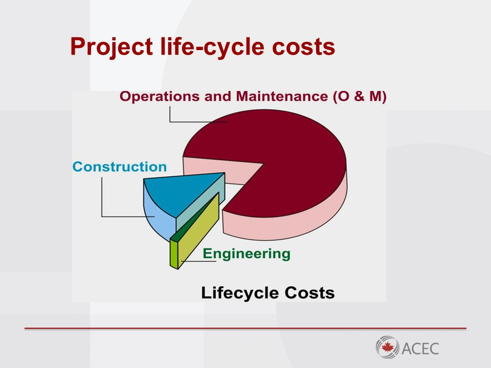 Project life-cycle costs