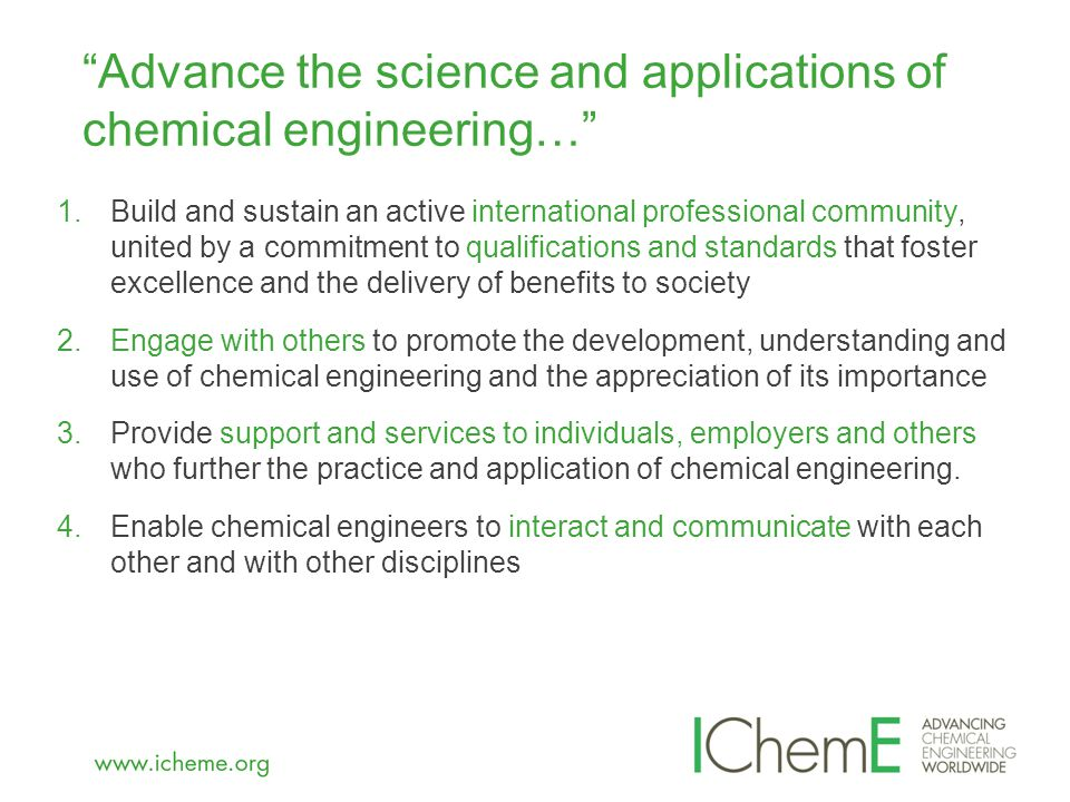  'Very excited to learn about new professional registration for senior process safety practitioners' Safety Engineer - Chevron UK  'I would very much like to add this certification…process safety comes first' Global Risk Lead - Syngenta USA  'I saw the news release of Process Safety accreditation with IChemE and am thrilled hearing this news' Senior Process Safety Engineer - ConocoPhillips Australia  'I would like to express gratitude to IChemE for developing the qualification' Process Safety Engineer - BP Azerbaijan  'I run a team of 8 engineers and will be encouraging all to apply' Manager Risk & Safety - Willis Ltd UK  'Several colleagues are keen to pursue this, as their work in Safety Engineering has not allowed them to qualify as CEng in their original disciplines' MD -Vanguard Solutions Australia The profession's response