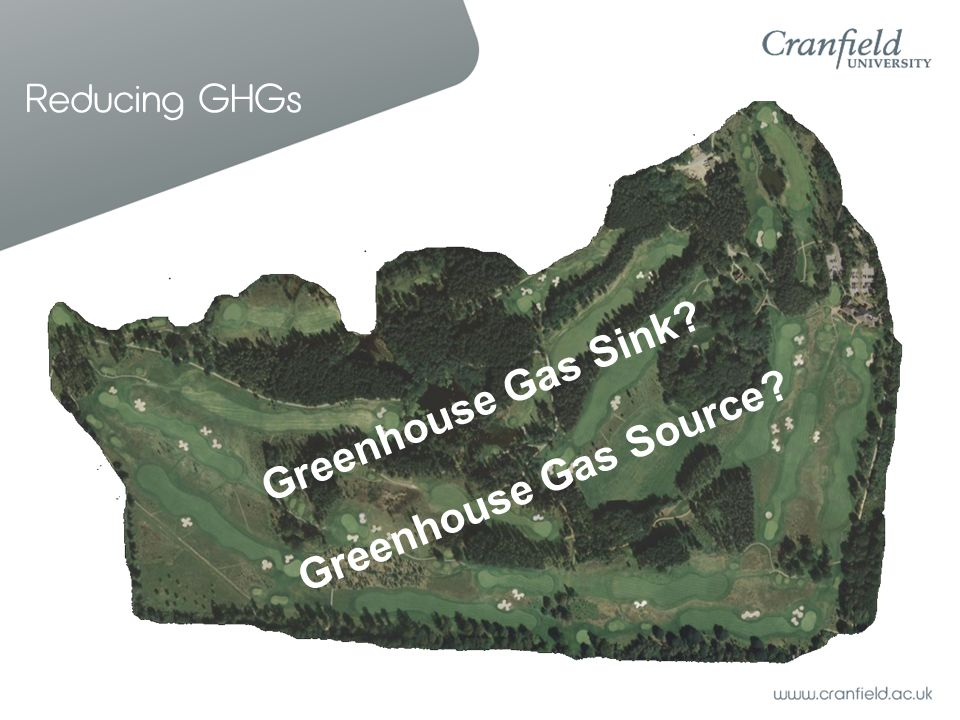 Reducing GHGs Greenhouse Gas Sink? Greenhouse Gas Source?