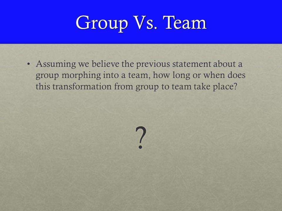 Group Vs.