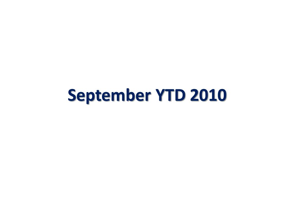 September YTD 2010